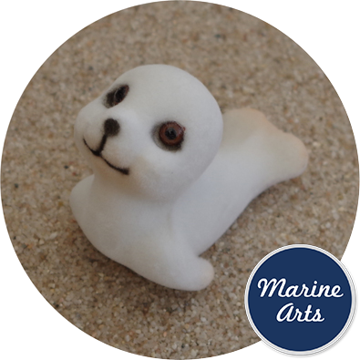 - Mini White Flock Seals