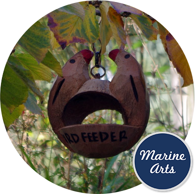 8104 - Bird Feeder - CoCo Nut Love Bird