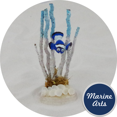 8154B - Clown Fish Scene - Blue