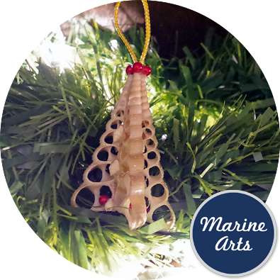 8286 - Festive Decor - Screw Shell Christmas Tree
