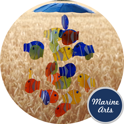 8296 - Wind Chime - Capiz Fish Shoal