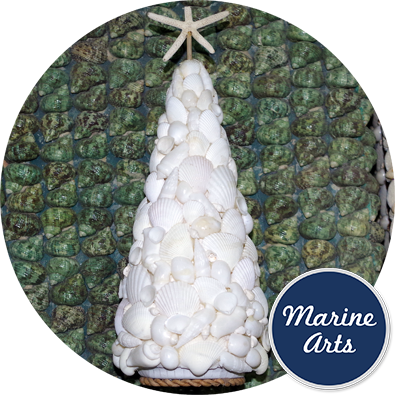 8322 - White Mixed Shell Christmas Tree