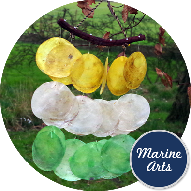 8436A - Wind Chime - Capiz Assorted Colours