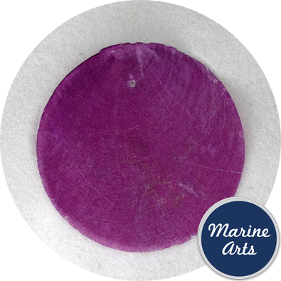 8550PUR - Capiz Disc - Purple 65mm - Single Drilled Hole