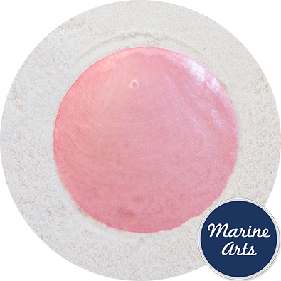 8550LP - Capiz Disc - Light Pink 65mm - Single Drilled Hole