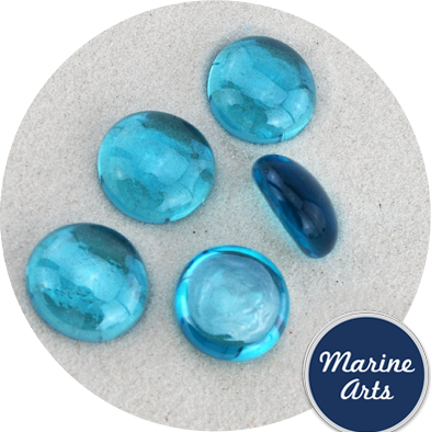 9113 - Glass Nuggets - Turquoise Blue