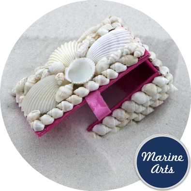 White Shell - Memento Box - Pink Lined