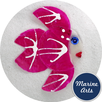 8551PK - Capiz Angel Fish - Pink 65mm - Single Drilled Hole