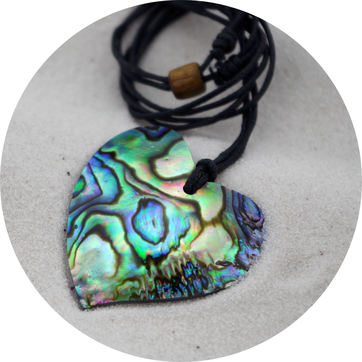 - Polished Paua Heart Necklace